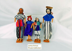 James Arness Gunsmoke Marshal Dillon 4 Vintage Handcrafted Dolls From Mexico
