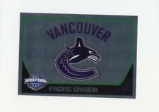 17/18 PANINI NHL STICKER TEAM LOGO #402 VANCOUVER CANUCKS *40713