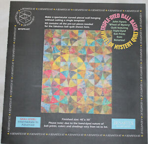 """Colorful Wheel of Mystery Quilt Top Kit Benartex 40"""" x 50"""""""