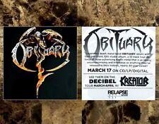 Obituary S/T Ltd Ed Rare New Band Logo Sticker +Free Metal Rock Stickers Lot!
