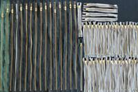 """LOT 2: 55 PIECES OF VINTAGE 1940'S-1950'S DEADSTOCK BRASS ZIPPERS (24"""", 9"""")"""