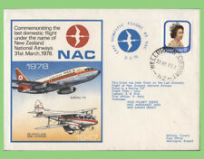 New Zealand 1978 NAC, Last Domestic Flight, flown cover