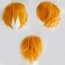 Men Boys Wonderful Cosplay Wig Natural Fashion Short Layer Straight Full Wigs bh