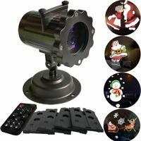 Merry Christmas LED Light Lamp Laser Lazer 3D Projector Illusion Santa Claus