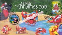 PNC Christmas Island 2015 Merry Christmas Perth Mint $1 Coin Ltd Edition 8000