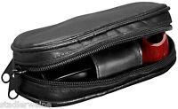 Vauen Pfeifentasche Leder schwarz - Geeignet für Vauen Pfeife Minni / Quixx