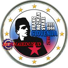 2 Euro Commémorative Slovénie 2011 en Couleur Type C - Franc Rozman-Stane