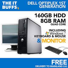 Dell Optiplex Quad Core 8GB 160GB HDD Windows 7 - Desktop PC Computer Bündel