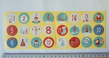 48 Adventszahlen 2er Set, 2x24 Stück basteln Weihnachten Kinder Ziffern Kalender