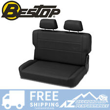 Bestop TrailMax 2 Rear Bench Seat 55-95 Jeep CJ5 CJ7 Wrangler Black Crush Vinyl
