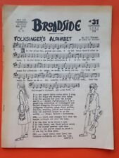Broadside folksong sheet music magazine with Tom Paxton (Sept. 1963)