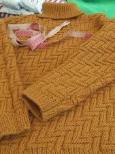 Splendide pull laine épais tricoté & fait main avec laine ANNY BLATT taille 42