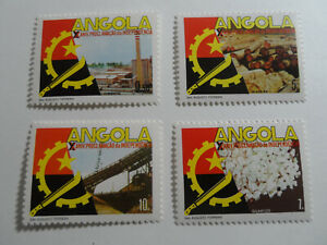 Discount Stamps : ANGOLA 1985 10th ANNIVERSARY OF INDPENDENCE 4v MNH SET