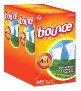 BOUNCE FABRIC SOFTENER DRYER SHEETS BIG 320ct BOX