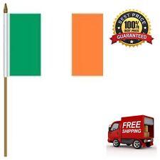 "Irish Flag 4"" x 6"" Ireland with 10-Inch Plastic Stick Mini Country Stick Flag"