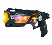 Space Gun Toy kids Led light  sound futuristic Steampunk Black Pistol Cyberpunk