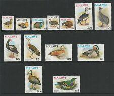 Malawi 1975 QEII Birds Complete set SG 473-485 Mnh.
