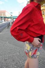OTTO KERN Royal Black Bluse Jacke Blouson Rot Schwarz 90er True VINTAGE 90s