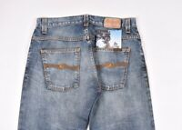 Nudie Jean Hank Rey Original Contraste Hommes Jeans Coupe Droite Taille 33/32
