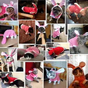Pet Dog Puppy Cat Winter Warm Outfit Clothes Costume Jacket Coat Apparel FW