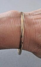 "Vintage 2 1/2"" Diameter Signed TRIFARI S Gold Tone Costume BANGLE Bracelet"