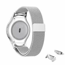 Milanese Stainless Steel Watch Band Strap + Connector Samsung Gear S2 R720 R730