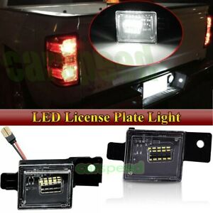 2x SMD LED License Plate Lights Lamp For 2014-2018 Chevy Silverado GMC Sierra