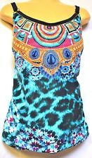 plus sz XS / 14 TS TAKING SHAPE Paradiso Tankini bathers top sexy swimwear NWT!