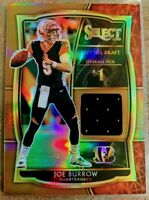 2020 Panini Select Joe Burrow COPPER HOLO PRIZM RELIC SSP RC #/49 BENGALS