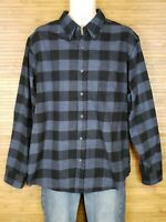Weatherproof Vintage Blue Checkered Shirt Flannel Mens Size XL EUC