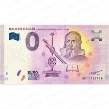 0 € ZERO EURO SOUVENIR BANCONOTA TURISTICA ITALIA 2020 - GALILEO GALILEI