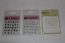 "Studio G Alphabet Stamps & Studio 112 2.5"" Clear Block Set"