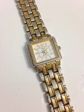 Qmax Crystal Ladies Designer Gold Tone Working Quartz Watch