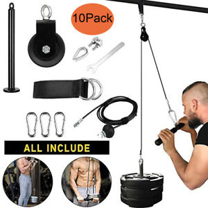 Steel Wire Rope Kit DIY Weight Stack Multi Gym Attachments Pulley System 2/2.5 M