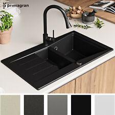 PRIMAGRAN Granitspüle Spülbecken Doppelbecken Spüle Küchenspüle Einbauspüle