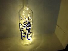Chelsea football glass bottle with led lights