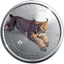 Canada Lince Lynx 2017 1 oncia 999 Argento dizione Edizione solo 5000 pz.