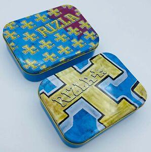 2oz/1oz RIZLA Metal Storage Cigarette Tin Tobacco Stash Box Choice of Colours UK
