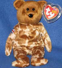 TY HERO the UK BEAR BEANIE BABY - FLAG ON ARM