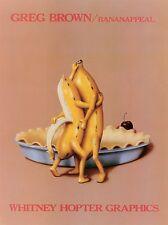 BANANAPPEAL PRINT BY GREG BROWN kitchen funny humor dancing bananas 18x24 poster