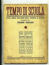 TEMPO DI SCUOLA#Mensile Ord. Medio/Superiore/Artistico-Anno II-N.3#Gennaio 1941