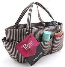Periea handbag organiser brown/cream stripes,tidy,organizer, purse insert -Tilly