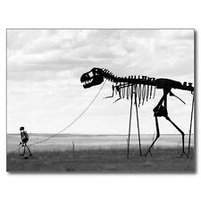 """*Postcard-DISPLAY--Skeleton Man Pulling The Big Skeleton""""   (B156)"""