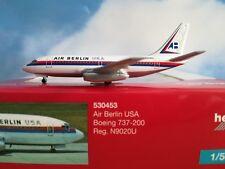 Herpa Wings 1:500 530453 Air Berlin USA b737-200 n9020u ** RARE **