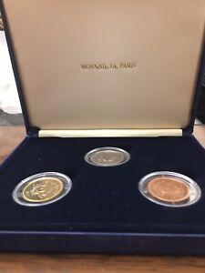 Lebanon Coin Set Monnaie de Paris Proof 100,250,500 Livres Issued Year 2000