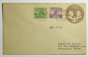 1933 FDC Chicago World's Fair SC #728, 730 on 1892 Columbia 5c Postal Stationary