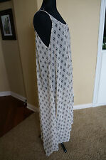 NEW 9 Seed Bohemian Long Flowy Ivory Maxi Tulum Dress Cover Up One Size S M L