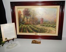 Thomas Kinkade Abundant Harvest I, 35x26 Framed Canvas Oil Painting COA 580/2450
