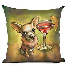 Chihuahua Martini Dog Puppy Cushion Cover