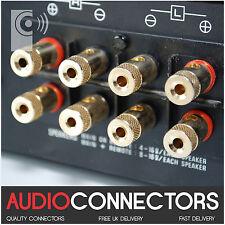 8 x Hi-Fi Binding Posts Gold Plated 4mm Banana Plug Speaker Socket (BI101) OPS